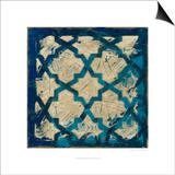 Stained Glass Indigo I Kunstdrucke von Megan Meagher