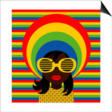 Retro Style Girl With Sunglasses Prints by  UltraPop