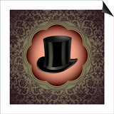 Vintage Floral With Top Hat Print by  Rashomon