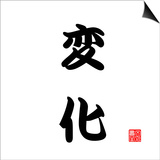 Japanese Calligraphy Change Prints by  seiksoon
