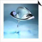 kjolak - 3D Glass Flower Plakát
