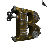 Steampunk Letter B Art by  drizzd