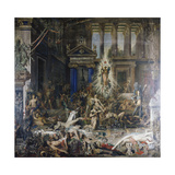 Les Pretendants. Started in 1852 Print by Gustave Moreau