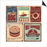 Vintage Style Tin Signs And Retro Posters Posters by  Lukeruk
