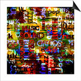 Art Urban Graffiti Raster Background Print by Irina QQQ