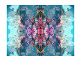 Flower Mandala Gladiolus Blue Photographic Print by Alaya Gadeh
