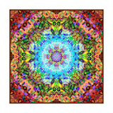 Flower And Painting Mandala Photographic Print by Alaya Gadeh
