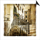 Streets Of Old Venice -Picture In Retro Style Posters by  Maugli-l