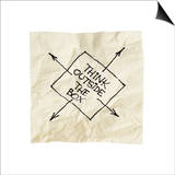 Think Outside The Box - Black Pen Drawing On An Isolated Cocktail Napkin Prints by  PixelsAway