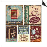 Vintage Coffee Posters And Metal Signs Art by  Lukeruk
