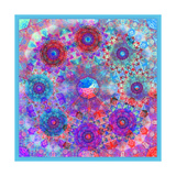 Blue Pink Blossom Sky Mandala Photographic Print by Alaya Gadeh
