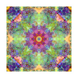 Energy Field Mandala Cross Photographic Print by Alaya Gadeh