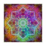 Rainbow Blossom Mandala Art by Alaya Gadeh