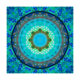 Royal Patterns Of Earth Mandala Water Photographic Print by Alaya Gadeh