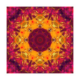 Warm Sun Mandala Ornament Photographic Print by Alaya Gadeh