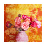 Carnations In A Vase Photographic Print by Alaya Gadeh