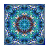 Blue Floral Ornament Photographic Print by Alaya Gadeh