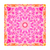 Pink Orange Dahlia Ornament Photographic Print by Alaya Gadeh