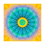 Sun Water & Green Mandala Photographic Print by Alaya Gadeh