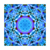Purple Heart In Blue Universe Mandala Photographic Print by Alaya Gadeh