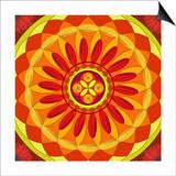 Floral Mandala Drawing Sacred Circle Posters by  AGCuesta