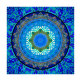 Royal Patterns Of Earth Deep Blue Sea Photographic Print by Alaya Gadeh