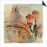 Venetian Pictures - Artwork In Painting Style Poster by  Maugli-l