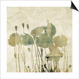 Art Floral Grunge Graphic Background Prints by Irina QQQ
