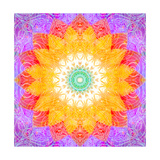 Sunshine Mandala Photographic Print by Alaya Gadeh