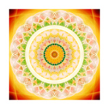 Shining Blossom Circle Prints by Alaya Gadeh