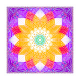 Swirly Blossom Mandala Photographic Print by Alaya Gadeh
