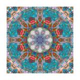 Fine Blue Stone Mandala Photographic Print by Alaya Gadeh