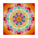 Painted Mandala 1 Photographic Print by Alaya Gadeh