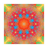 Orange Red Flower Mandala Art by Alaya Gadeh