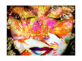 Floral Face With Golden Reflection Photographic Print by Alaya Gadeh