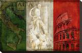 Brava Italia Stretched Canvas Print by Luke Wilson