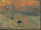 Impression, Sunrise, c.1872 Stretched Canvas Print by Claude Monet