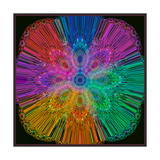 Rainbow Fountain Print by Alaya Gadeh
