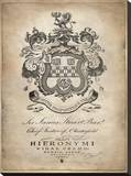 Heraldry I Stretched Canvas Print by Oliver Jeffries