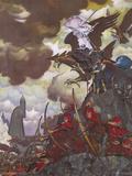 Battle Before the Gate (Gandalf on Gwaihir) Plakaty autor Steve Hickman
