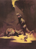 Dinosaurs Posters by Frank Frazetta