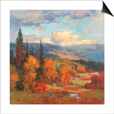 Autumn Mountains Print by K. Park