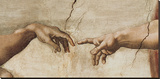 The Creation of Adam, c.1510 (detail) Stretched Canvas Print by  Michelangelo Buonarroti