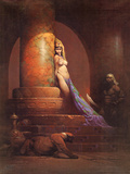 Egyptian Princess (cover art for Eerie 23 and Creepy 92) Art PrintFrank Frazetta