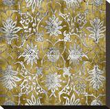 Ornate In Gold and Silver Stretched Canvas Print by Ellie Roberts