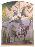 Citadel at Sunrise (Gandalf approaching Minas Tirith) Posters by Steve Hickman