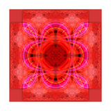 Red Rose Mandala Ornament Photographic Print by Alaya Gadeh