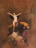 Sun Goddess (cover art for Vampirella 7 and Creepy 87) Print by Frank Frazetta