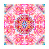 Pink Floral Mandala Photographic Print by Alaya Gadeh