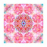 Pink Floral Mandala Photographic Print by Alaya Gadeh